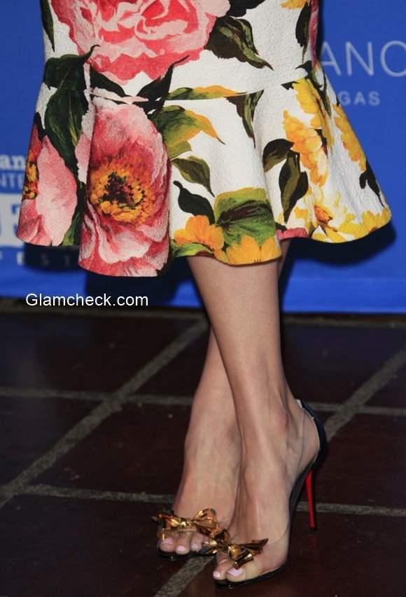 Shoes to die for - Jenny Slate flaunts Louboutin heels at the Santa Barbara International Film Festival