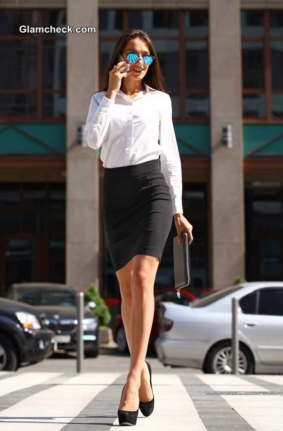 Corporate Diva in Pencil skirt