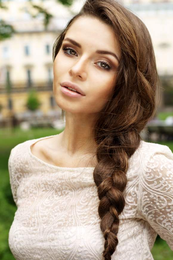 Side Plait Hairstyle for Summer