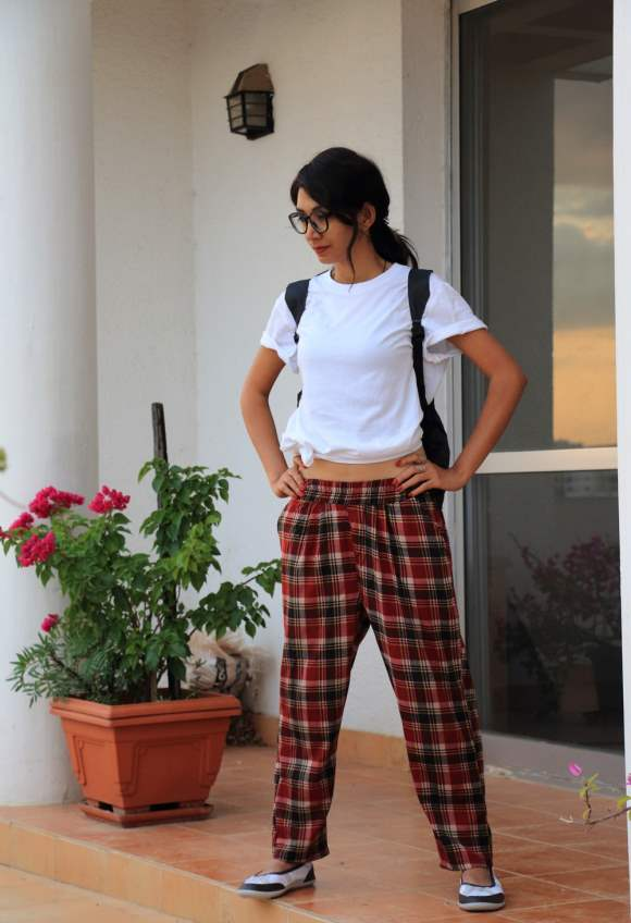 Sporty Look in Plaid