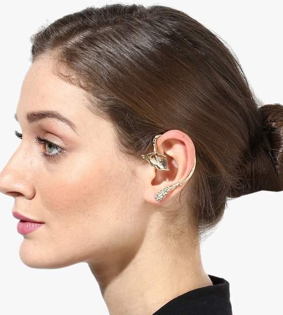 Blueberry Gold Ear Cuff
