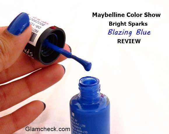 Color Show Nailpolish - Blazing Blue Review