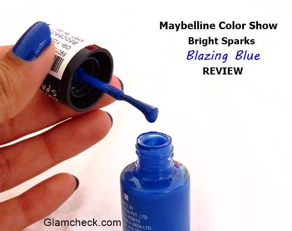 Color Show Nailpolish - Blazing Blue Review