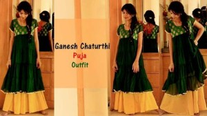 Gharara Suit – Outfit for Ganpati Puja