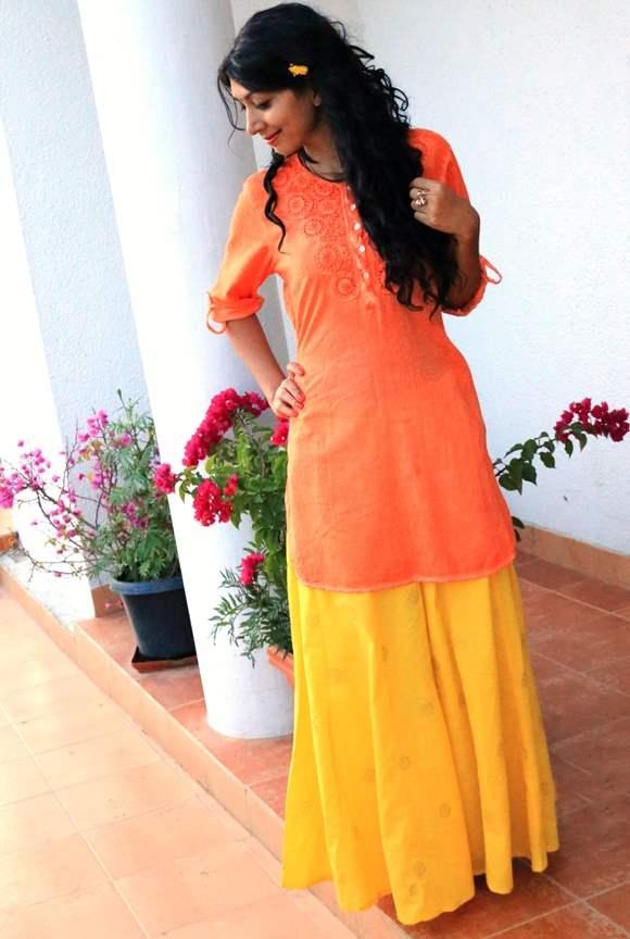 Krishna Janmashtami Outfit - Yellow and Orange