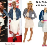 Little White Dress with Denim Jacket – Styling
