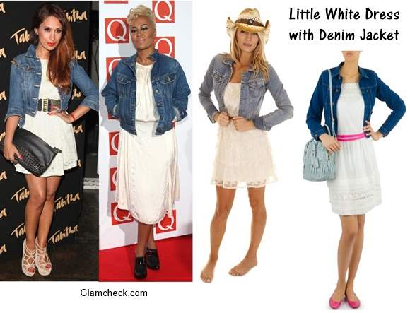 Little White Dress with Denim Jacket – Styling
