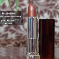 Maybelline Color Sensational Lipstick Copper Brown 775 Review