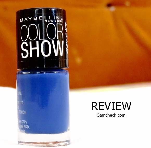 Maybelline Color Show Bright Sparks Nailpolish - Blazing Blue review