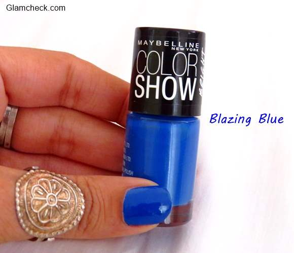 Maybelline Color Show Nailpolish - Blazing Blue Bright Sparks REVIEW