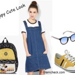 Miss Bennett London Denim Dress for a Preppy Cute Look