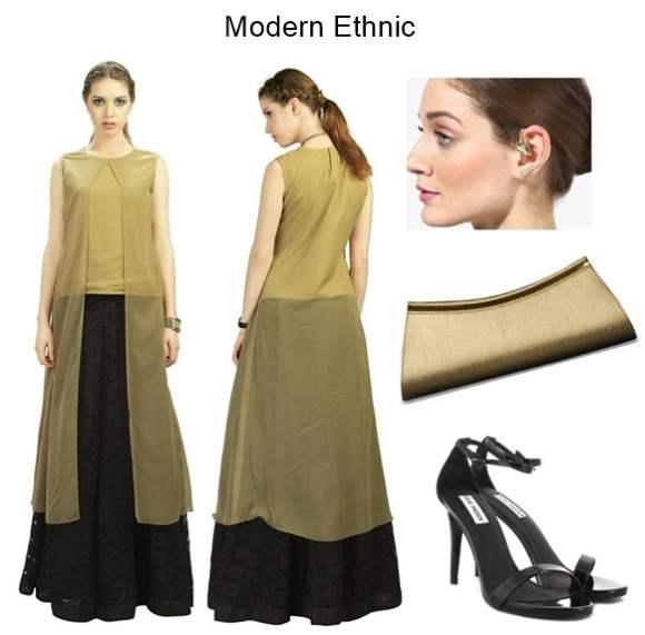 Styling Modern Ethnic Admyrin Chiffon Wrap Kurti
