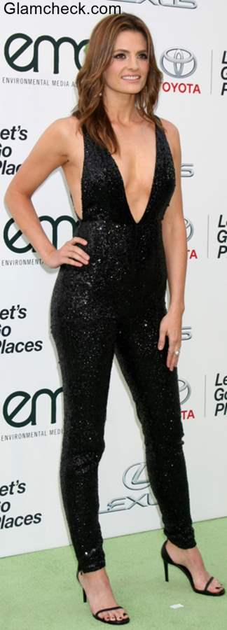 Black Jumpsuit Stana Katic