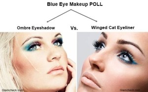 Blue Eye Makeup Trend Fall/Autumn – Ombre vs. Cat Eyes
