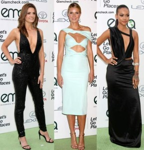 Celebs in Cut-out outfits at the Environmental Media Awards 2015