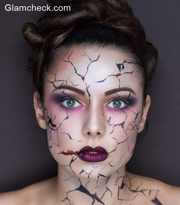 Cracked Up Halloween Makeup