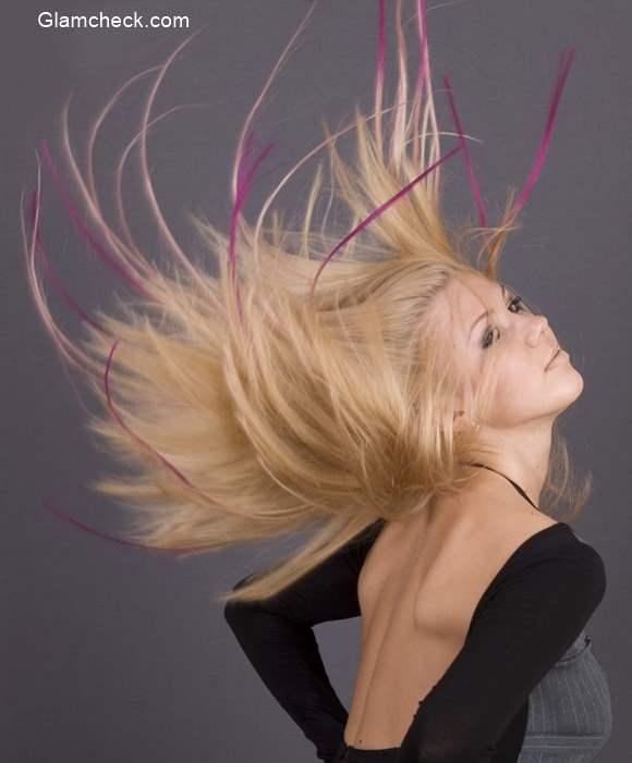 Dip Dye Pink Hair Color