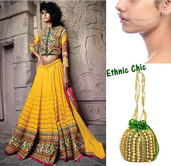 Ethnic Chic Look for Durga Puja