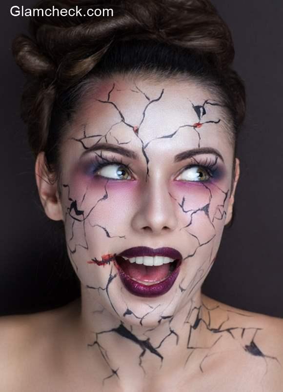Halloween Makeup Cracked Face