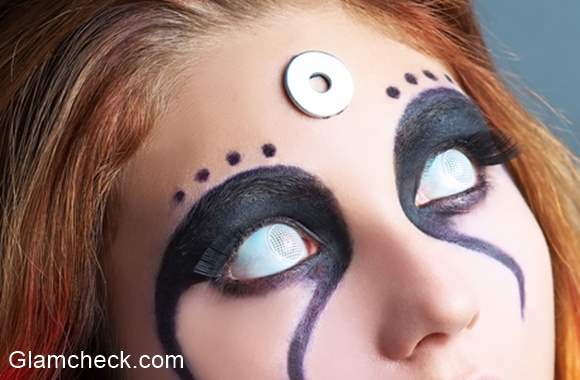 Halloween Makeup Scary Zombie White Eyes