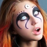 Halloween Makeup Zombie White Eyes