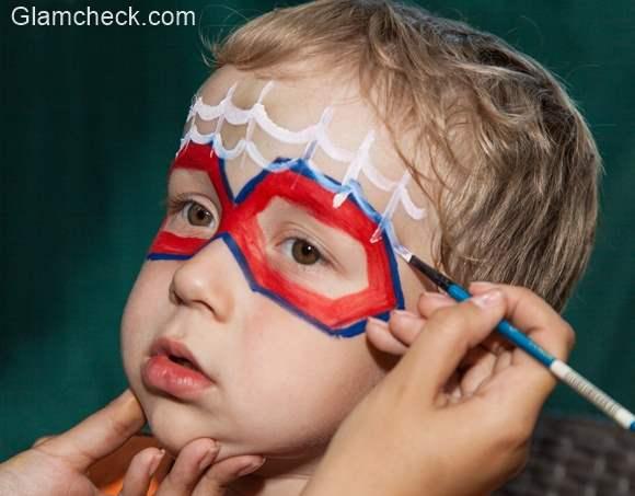 Spiderman eye makeup