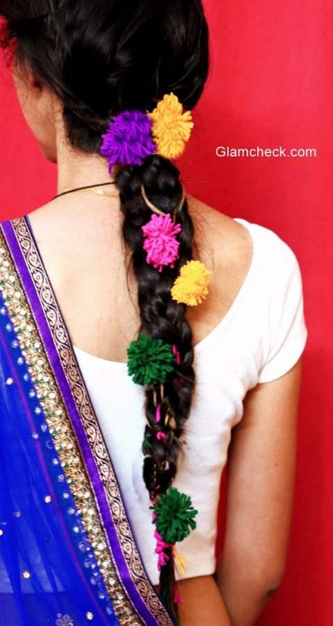 Indian Parandi Hairstyle Hair Accessory DIY