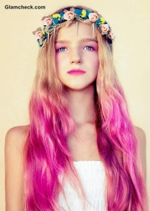 Ombre Pink Hair Color