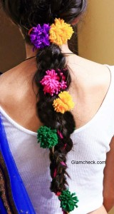 Indian Parandi Hairstyle and Hair Accessory DIY for Navratri