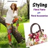 Style Floral Print Pants with Floral Acessories