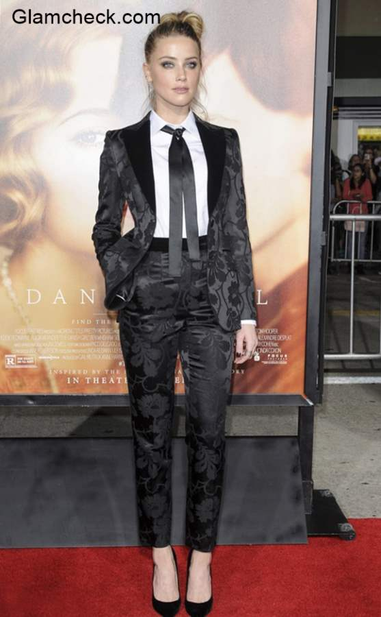 Amber Heard goes Androgynous at The Danish Girl premiere in Los Angeles