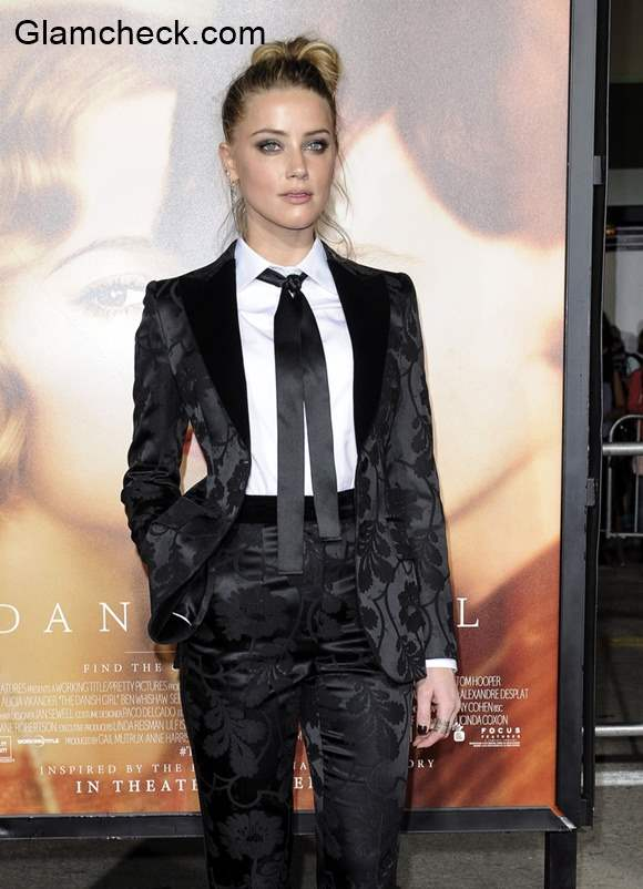 Androgynou Look Amber Heard at The Danish Girl premiere in Los Angeles