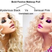 Bold Festive Makeup Poll - Mysterious Black Vs Sensual Pink