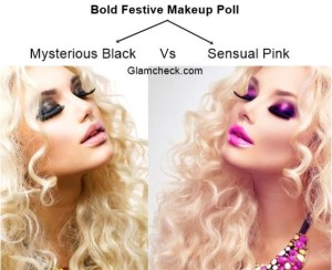 Bold Festive Makeup Poll – Mysterious Black Vs Sensual Pink