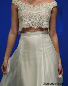 Bridal Crop Top and Skirt Trend