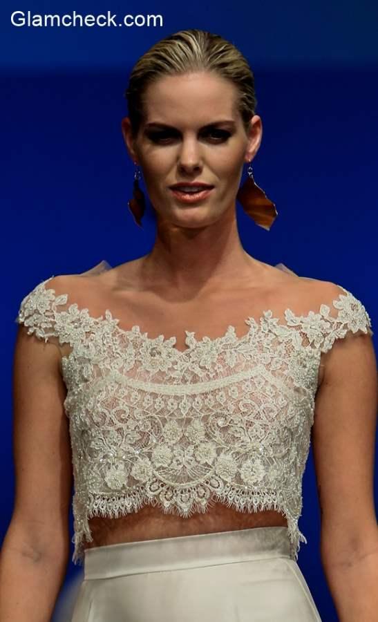 Bridal Lace Crop Top Limor Rosen Fall-Winter 2016