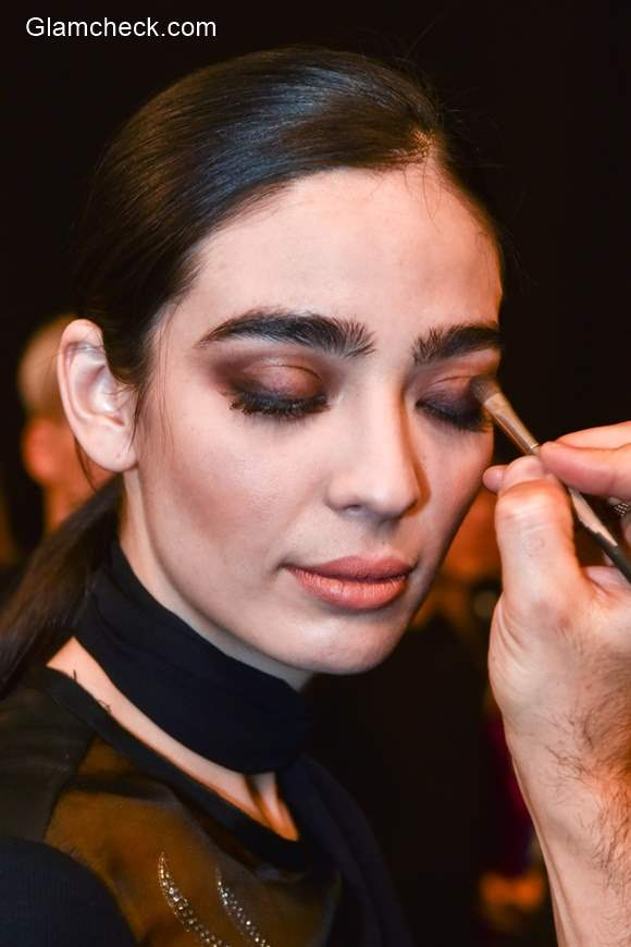 Brown Eye-shadow Makeup Trend Nicole Miller Fall 2015