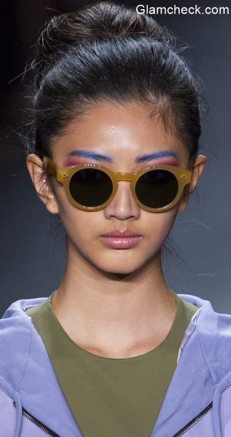 Colored Eyebrows - Georgine Spring 2016 for NYFW