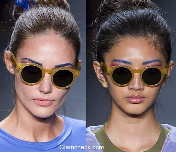 Colored Eyebrows Makeup - Georgine Spring 2016 for NYFW