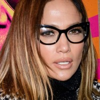 Geeky Glasses - Jennifer Lopez them to Rock the Kasbah premiere