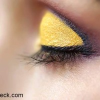 Golden Yellow Eye Makeup