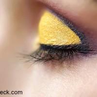 Golden Yellow Eye Makeup