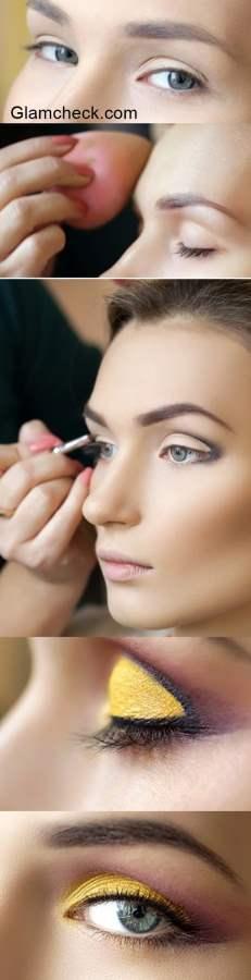 Golden Yellow Eye Makeup DIY