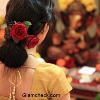 Hairstyle with Saree -Bun