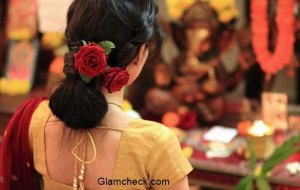 Diwali Hairstyle with Saree – Last Minute Effortless Bun