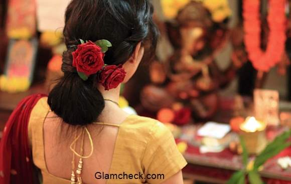 Diwali Hairstyle With Saree Last Minute Effortless Bun