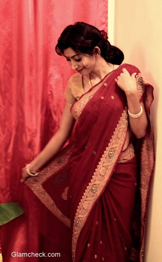 Hairstyle with Saree