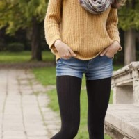 How to Style Demin Shorts for Fall