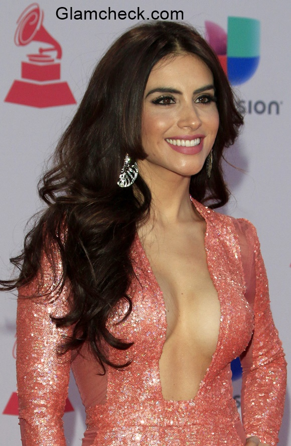 Jessica Cediel in Shimmery Gown