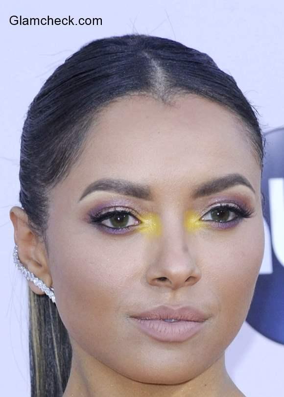 Kat Graham striking Yellow Eye Makeup - Yay or Nay